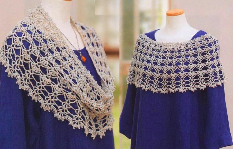Chal de ganchillo patrones 🥇SIMPLE DE TEJER 🥇 ▷ Crochet Fácil