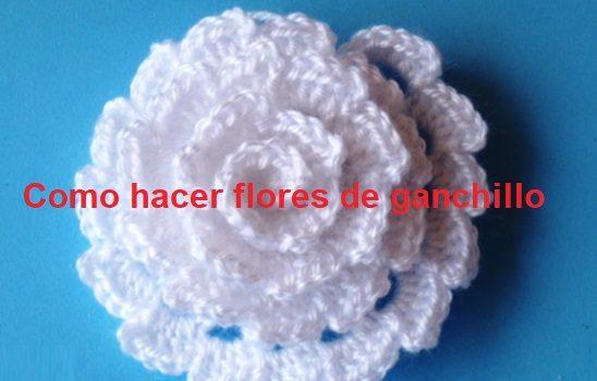 Como hacer flores de ganchillo FLOR CROCHET PASO A PASO Crochet