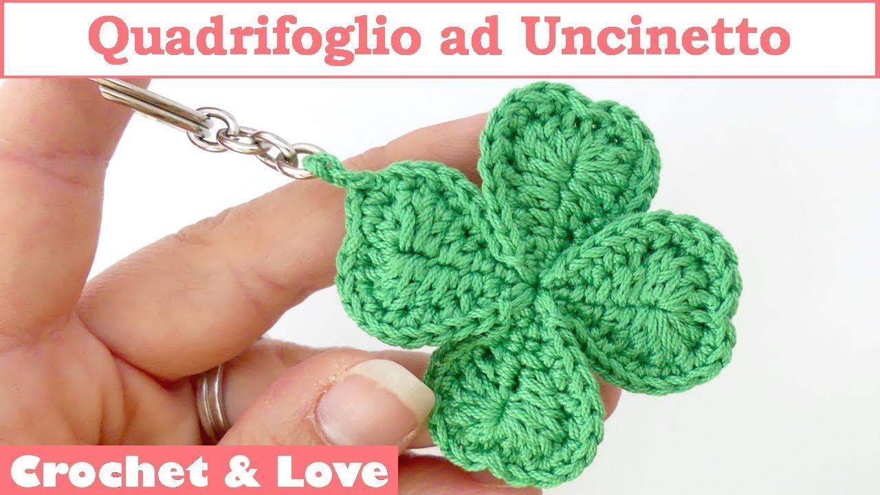 Llavero crochet trébol 🌸 HOGAR CROCHET TUTORIAL 🌸▷ Crochet Fácil