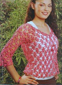 Blusa roja mujer