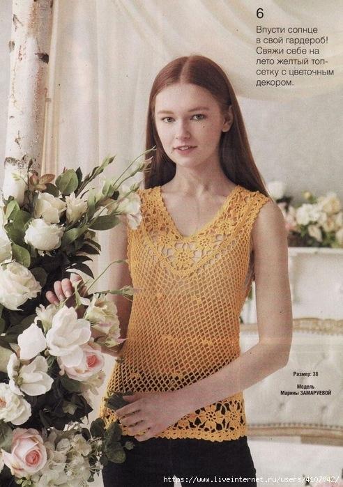 Blusas tejidas en hilo crochet
