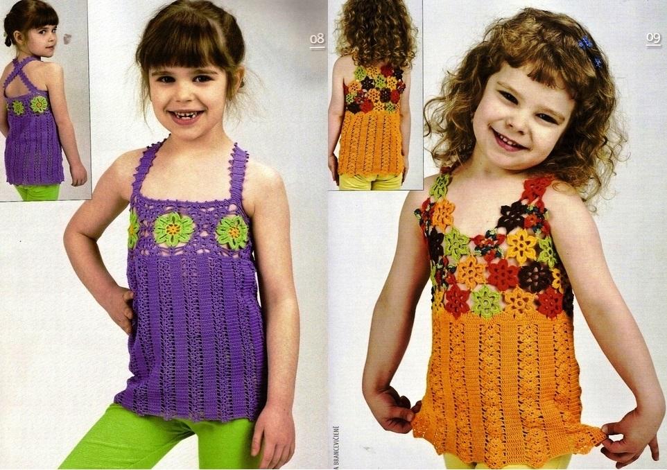 Blusas tejidas para niña patrones