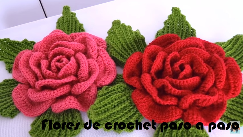 Flores De Crochet Paso A Paso Vídeo Tutorial Crochet Fácil