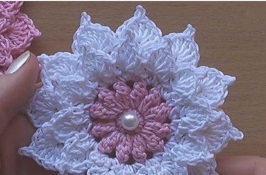 Flores De Ganchillo Video Tutorial Paso A Paso Crochet Facil