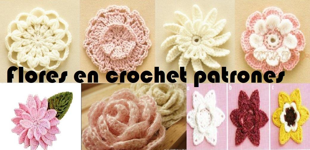 Flores en crochet patrones 【SENCILLAS Y LINDAS】 ▷ Crochet Fácil