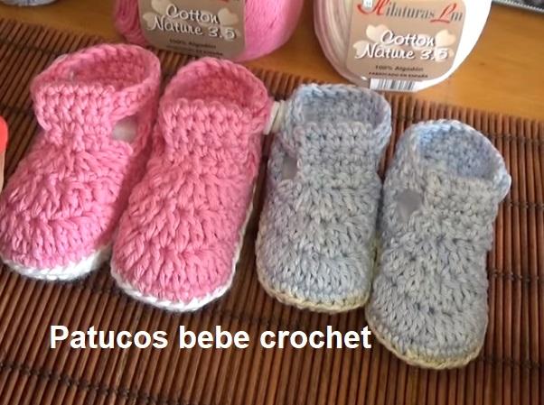 Patucos bebe crochet