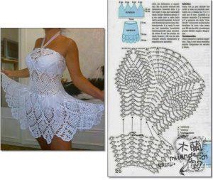 Vestidos de mujer tejidos a crochet