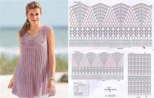 Vestidos de crochet para mujer con patrones