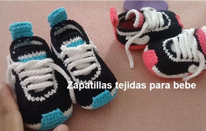 Zapatillas tejidas para bebe