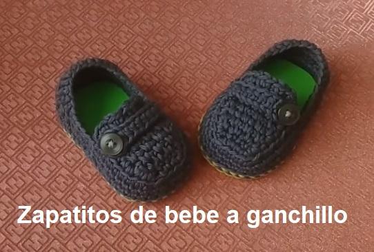 Zapatitos de bebe a ganchillo