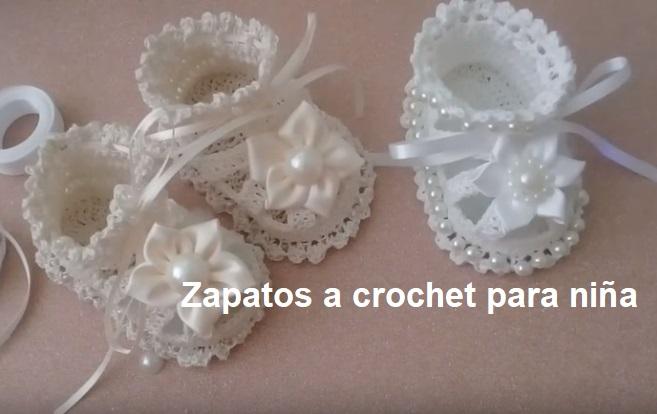Zapatos a crochet para niña