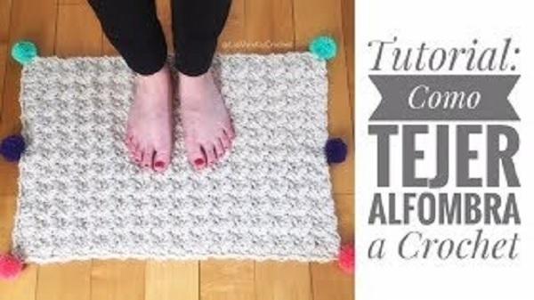 Alfombra crochet textura