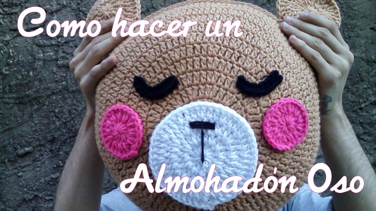 Almohada Crochet Oso