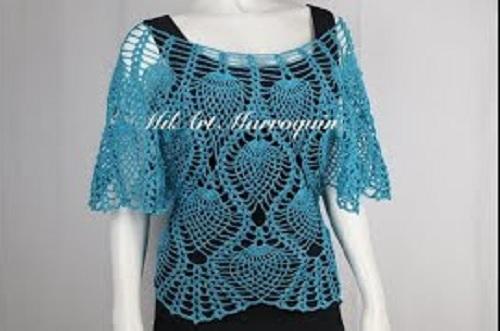 Blusa Crochet Piñas