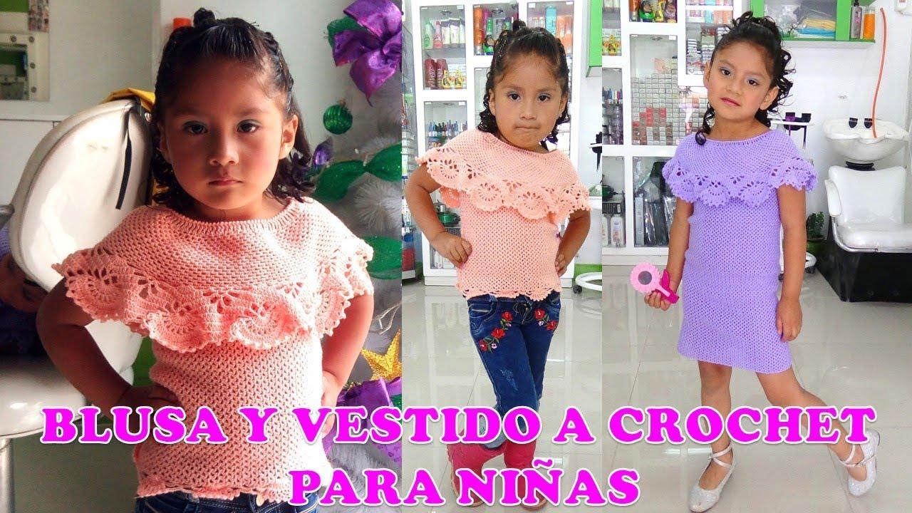 Blusa niña crochet
