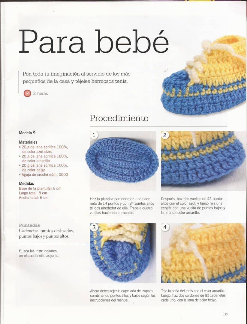 Escarpines bebé ⭐ ESQUEMAS DE ESCARPINES CROCHET ⭐ ▷ Crochet Fácil