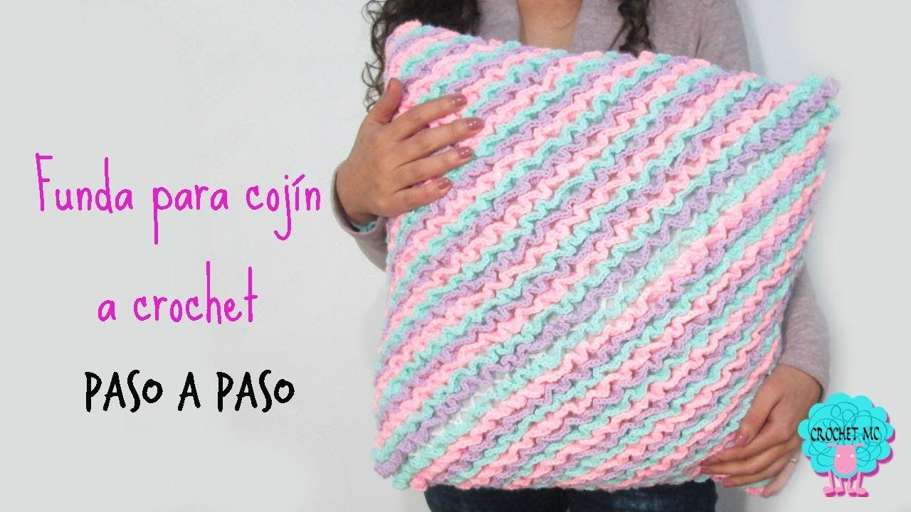 Funda para cojín crochet