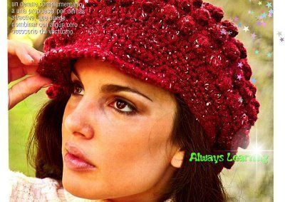 4417b7724e93b Gorro con visera ⭐ ESQUEMAS GRATIS ⭐ ▷ Crochet Fácil