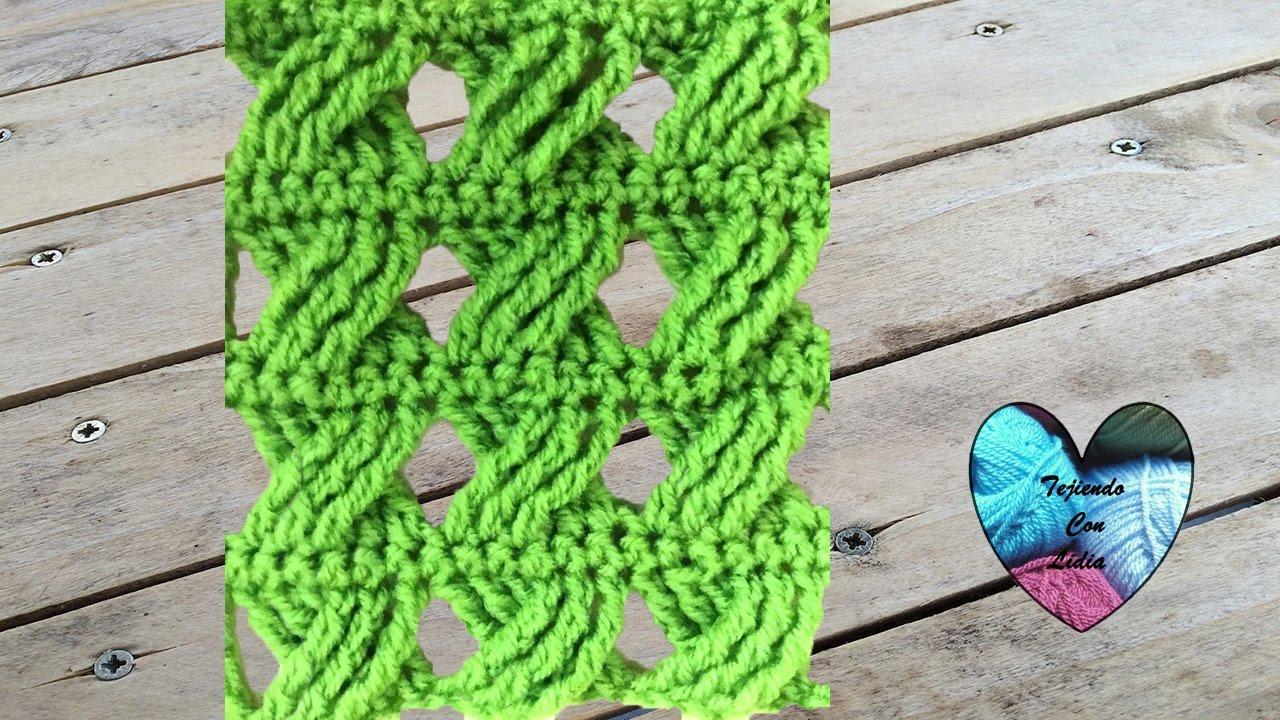 Punto crochet cruzado