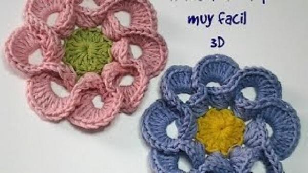 Tutorial Flores en crochet