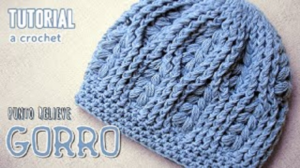 Tutorial Gorro crochet relieve