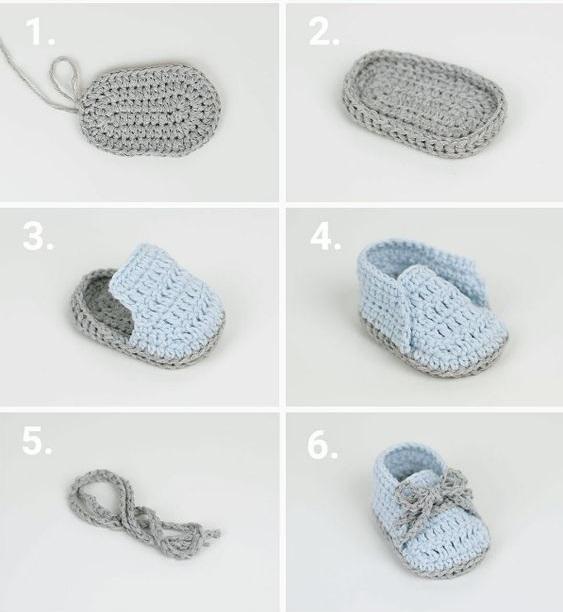 Zapatitos crochet ⭐ ESQUEMAS DE ESCARPINES ⭐ ▷ Crochet Fácil