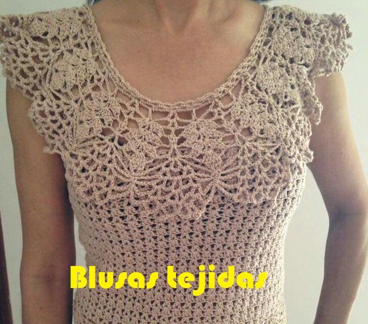 Blusas Tejidas Esquemas De Gratis Crochet En Blusas Crochet Fácil