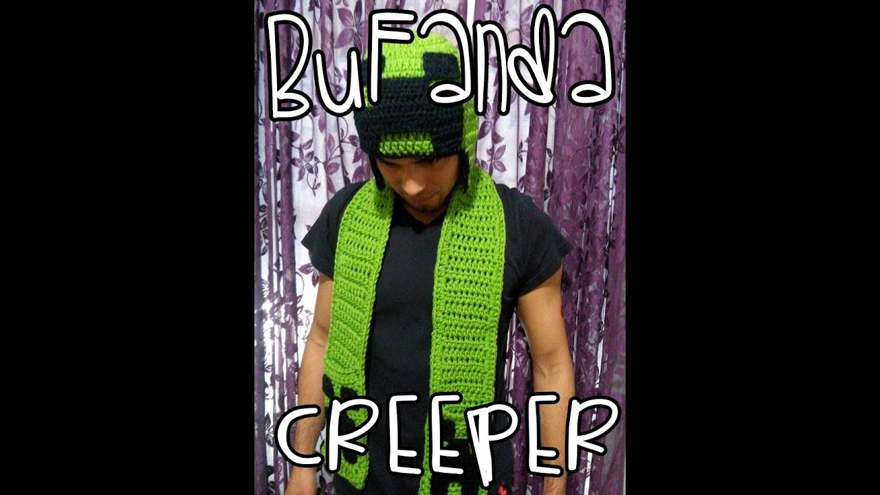 Bufanda Crochet Creeper