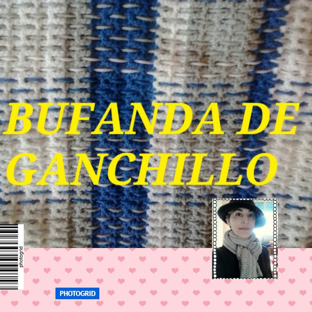 Bufanda Crochet simple