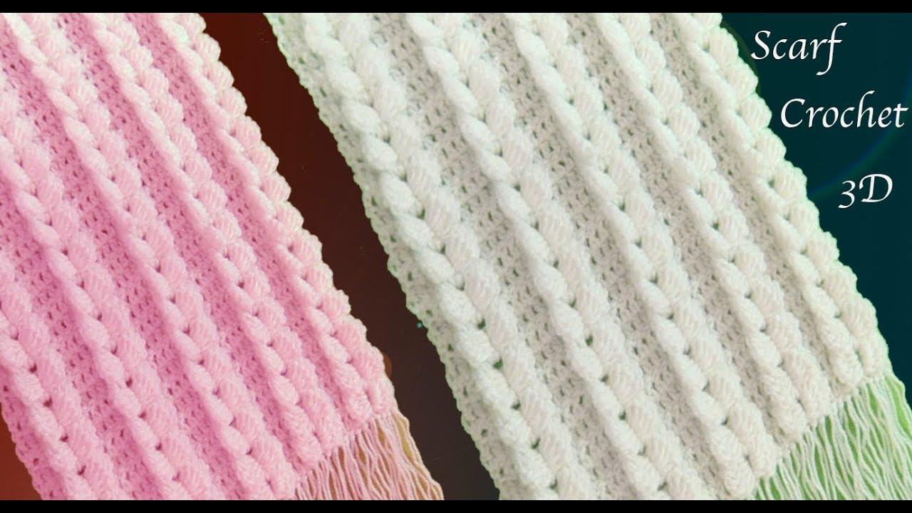 Bufanda Crochet trenzas