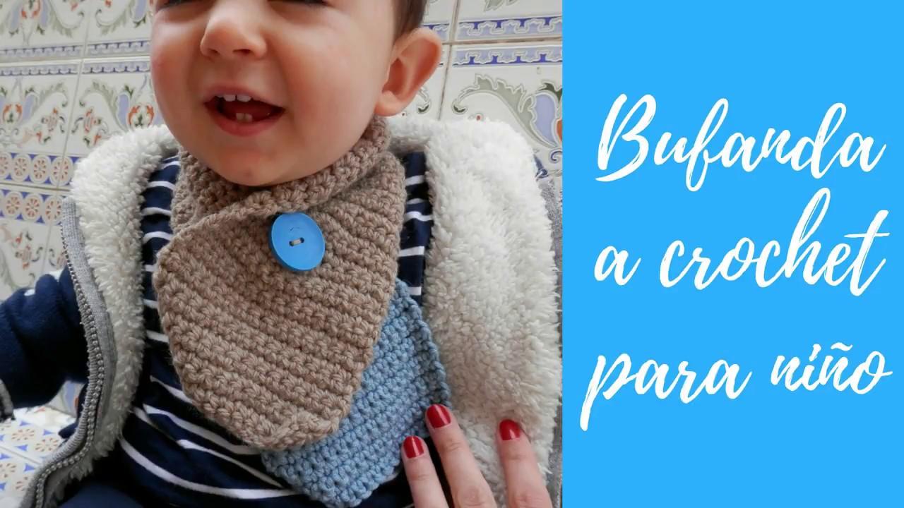 Bufanda crochet bebe