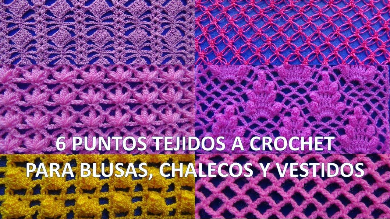 Tutorial crochet Puntos blusas