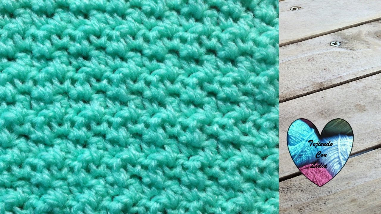 Tutorial crochet punto arroz