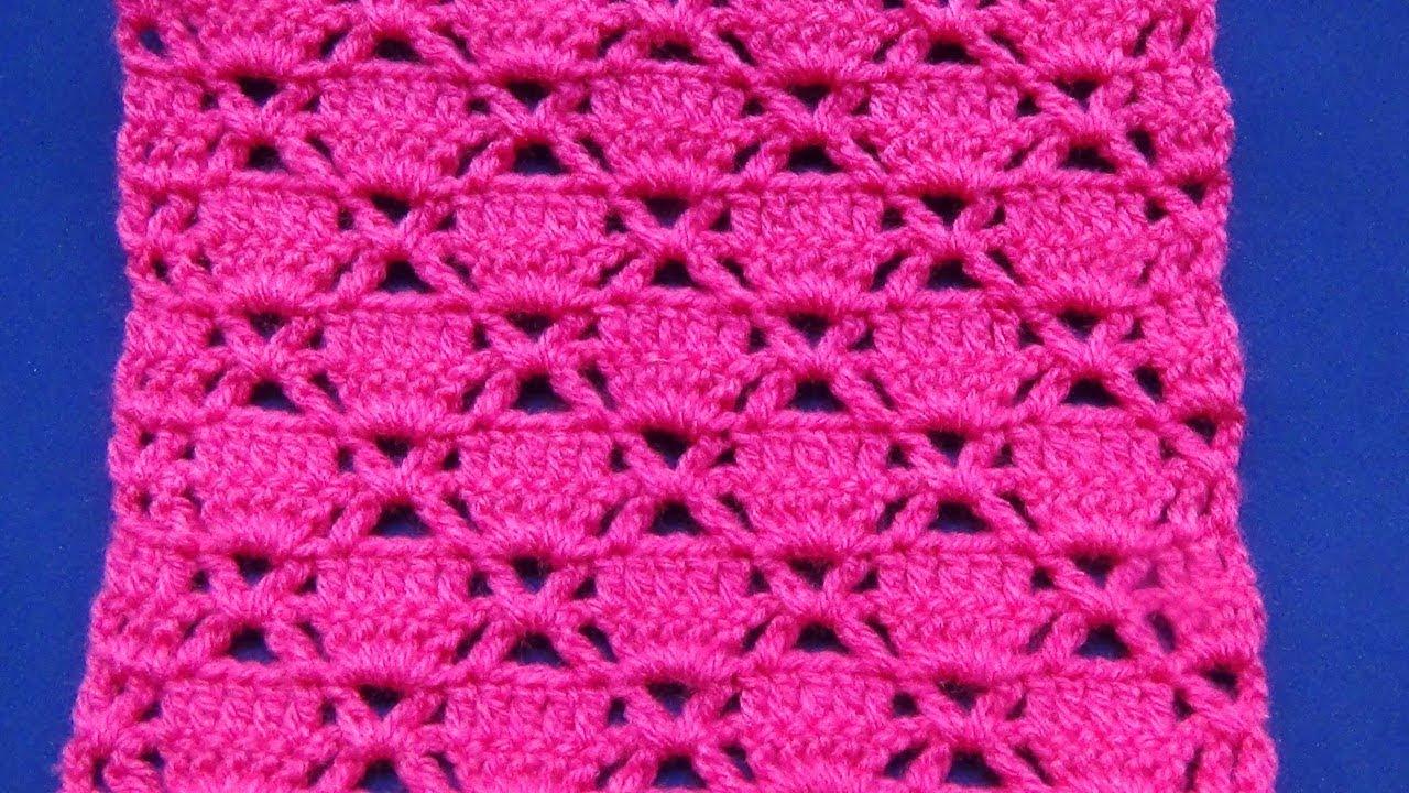 Tutorial crochet punto para mantas