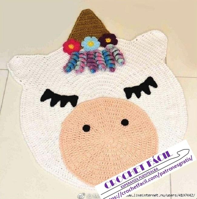 Alfombra Crochet para Niños