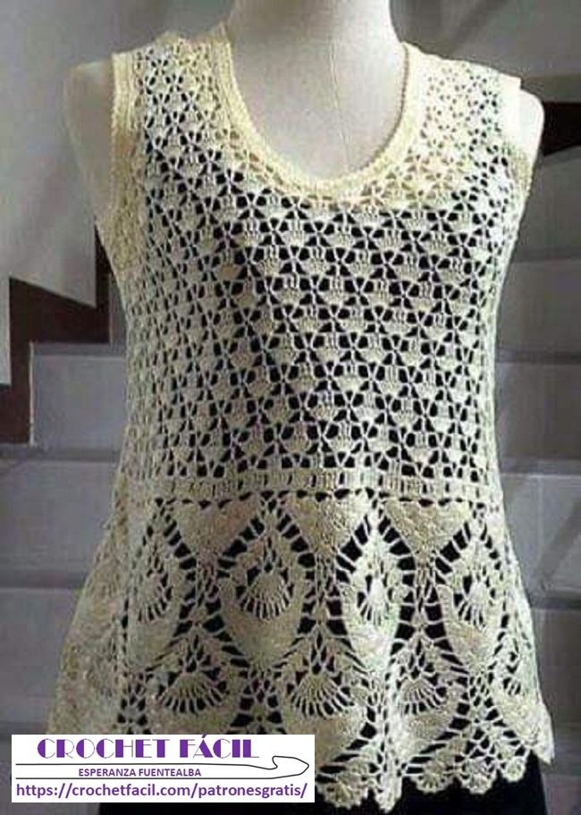 Blusa Crochet con Hilo