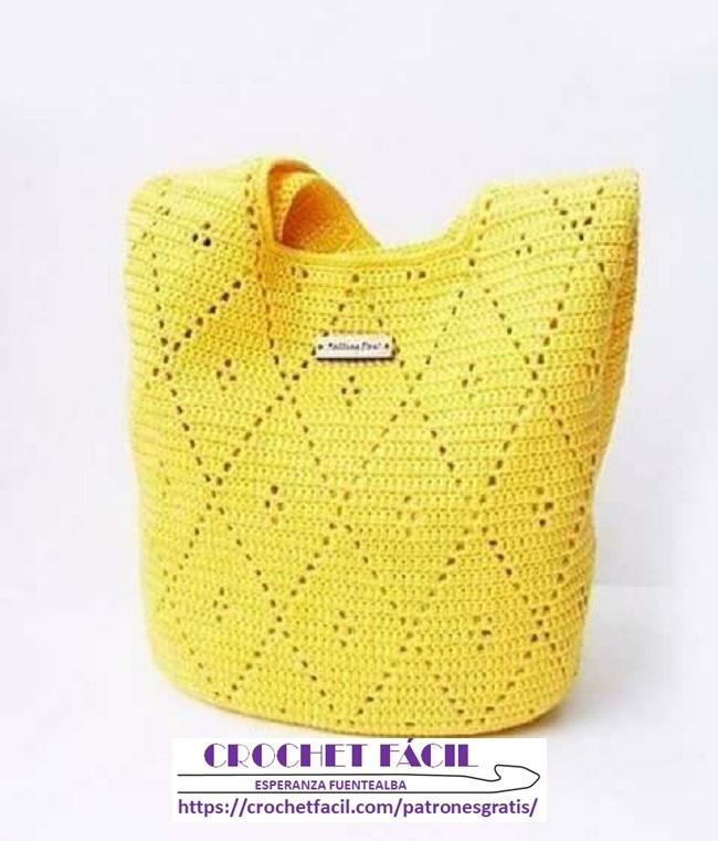 Bolso Crochet de Rombo