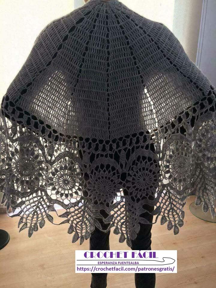 Borde para Chal Crochet