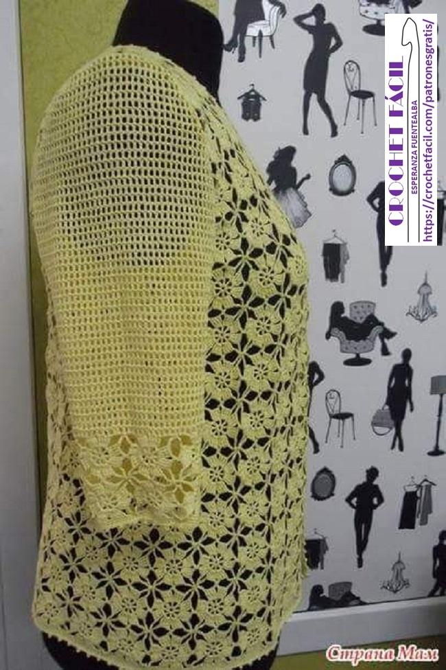 Chaleco Motivo Crochet