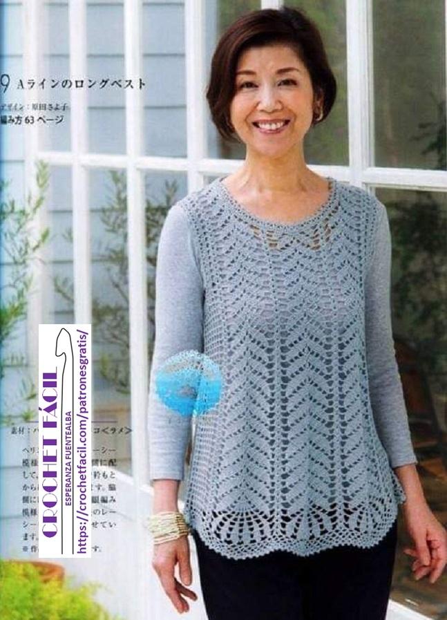 Chambrita Crochet Dama