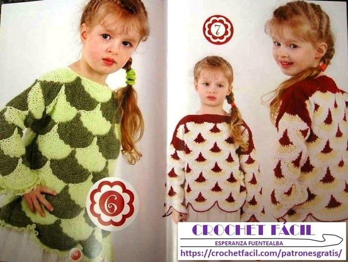 Chambrita Niña Crochet