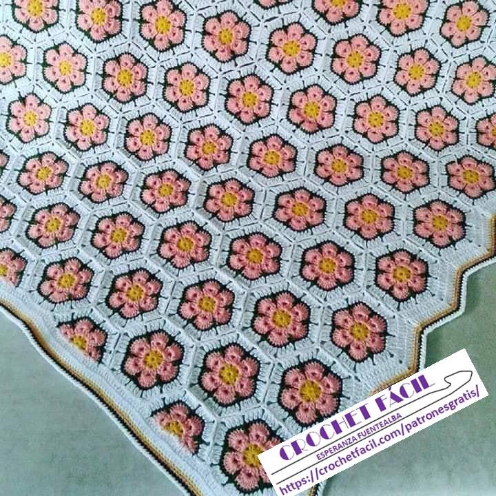 Manta Flor Crochet