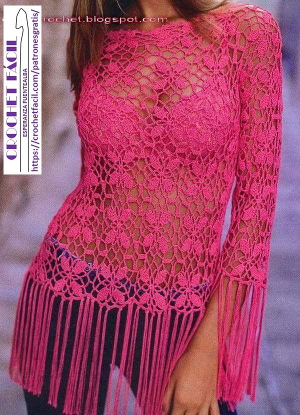Motivo Crochet y Flecos