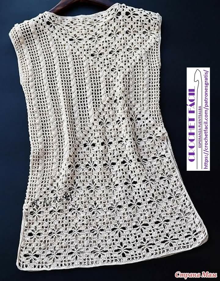 Polera Crochet Dos Puntadas