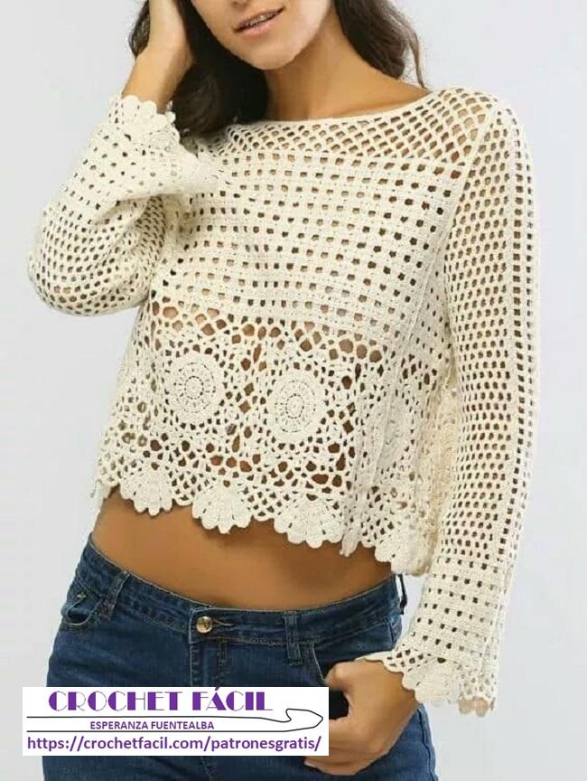 Polera Crochet Juvenil