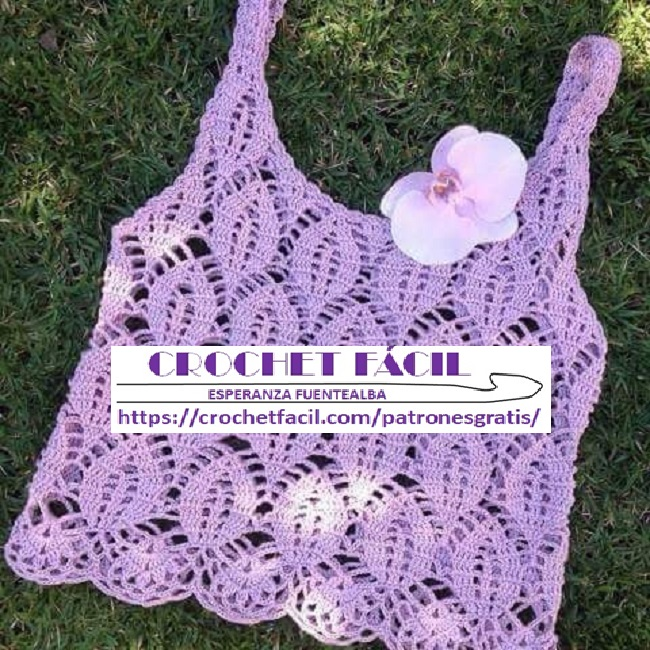Polera Crochet Tipo Top