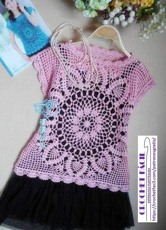 Polera Crochet Verano