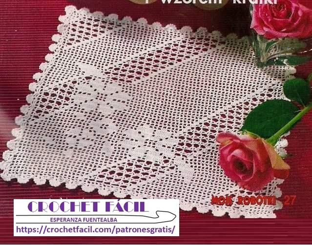 Tapete Crochet Flor y Calado