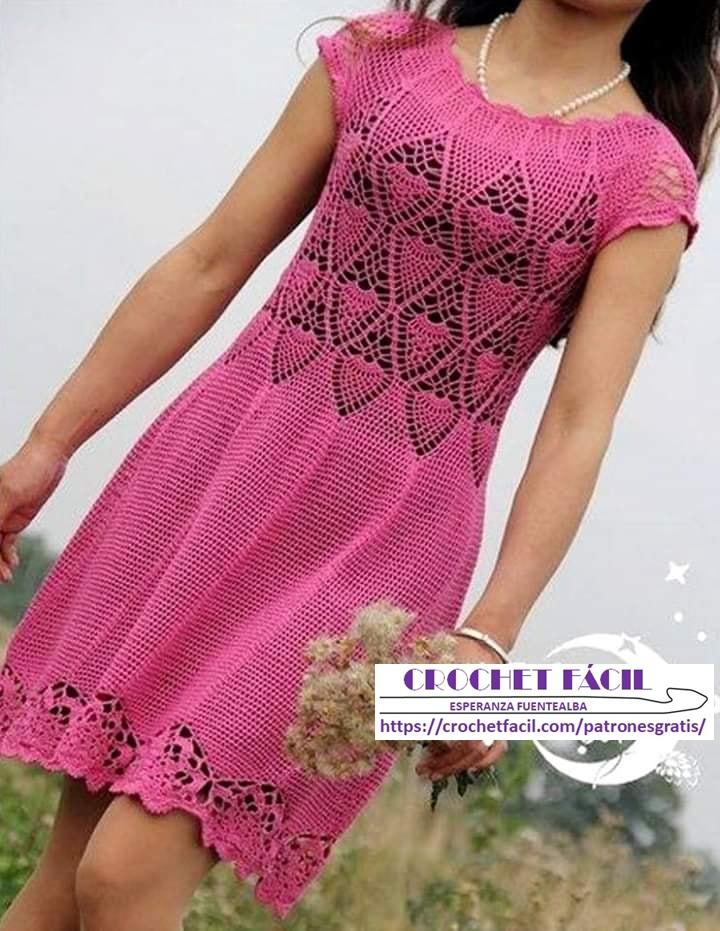 Vestido Crochet Piñas